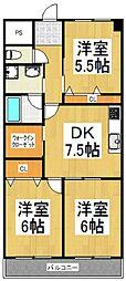 マルナカビレッジ弐番館[7階]の間取り