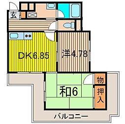 レスポワ−ル池田[105号室]の間取り