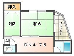寝屋川本町ビル[3階]の間取り