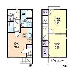 デュープレックス福田 II[2階]の間取り