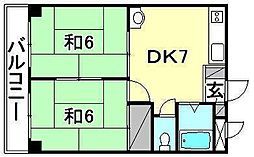 ビージョイマンション1号館[202 号室号室]の間取り