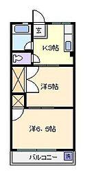 東京都足立区西綾瀬1丁目の賃貸アパートの間取り