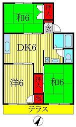 ドミール山崎[1階]の間取り