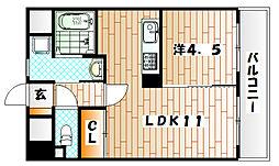 T−FLAT58[4階]の間取り