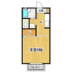 リーベンハイム[2階]の間取り