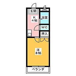 愛知県名古屋市名東区牧の里2丁目の賃貸アパートの間取り