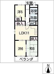 黄桜名古屋ハイツ[4階]の間取り