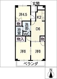 アーバンハイツ太田[3階]の間取り