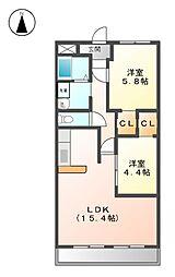 メゾンベル[2階]の間取り