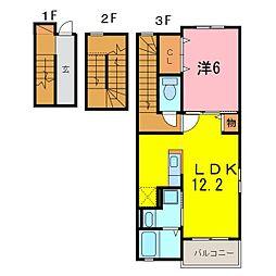 仮)安城市和泉町アパート[301号室]の間取り
