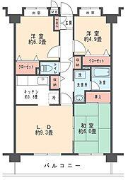 ヴェルジュ武蔵新城[504号室]の間取り
