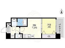 Orientem 3階1LDKの間取り