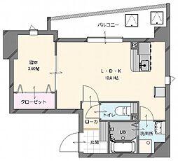 (仮称)博多南駅前新築マンション 3階1LDKの間取り