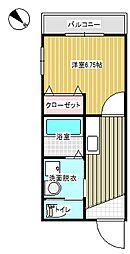 AKIコーポIII[303号室]の間取り