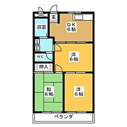 ホワイトミューズ[3階]の間取り