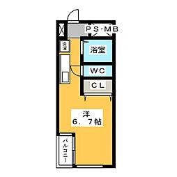 元浜グリーンホームズ[5階]の間取り