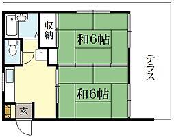 倉美苑[1階]の間取り