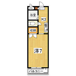 プランドール(伏見区)[205号室]の間取り