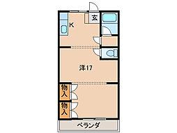 ユニオンハイツ松江[2階]の間取り