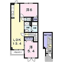 北海道札幌市白石区川北二条1丁目の賃貸アパートの間取り