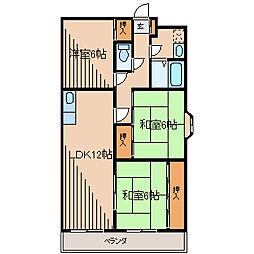 コルディア町田金森[1階]の間取り