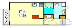 千葉県船橋市前原西7丁目の賃貸アパートの間取り