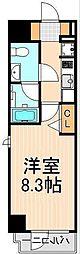 ディアレイシャス上野浅草[201号室]の間取り