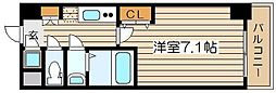 レジュールアッシュ梅田レジデンス[7階]の間取り