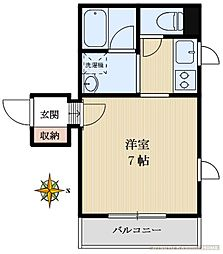 ACADEMIAART TOKYO 上野台学院[203号室]の間取り
