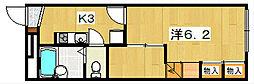レオパレスFlourish[1階]の間取り