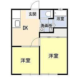 ヴィンテイジ湘南1階Fの間取り画像