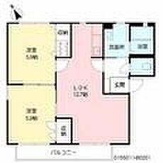 福岡県北九州市門司区白野江2丁目の賃貸アパートの間取り