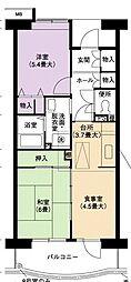 URアーバンラフレ小幡4号棟[3階]の間取り