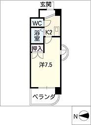 レジデンスふくざわII[5階]の間取り