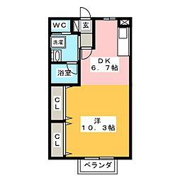 宮城県仙台市太白区金剛沢2丁目の賃貸アパートの間取り