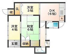 広島県呉市吉浦東本町2丁目の賃貸アパートの間取り