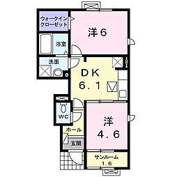 カリーノ カーサII[0104号室]の間取り