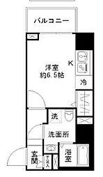 N-stage Toyoda 5階1Kの間取り