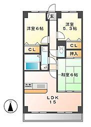 覚王山センタービル[5階]の間取り