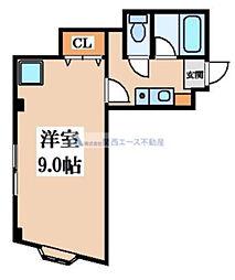 ソレイユ野崎[3階]の間取り