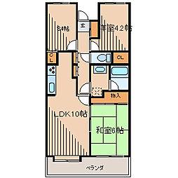フォレスター新百合ヶ丘[2階]の間取り