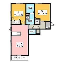 Comfort[3階]の間取り