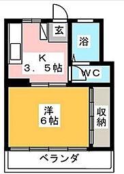 湘南マンション[2-D号室]の間取り
