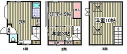 [一戸建] 東京都品川区平塚1丁目 の賃貸【/】の間取り