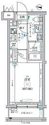 JR総武線 新小岩駅 徒歩8分の賃貸マンション 1階1Kの間取り