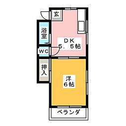 ハイツニシキ[2階]の間取り