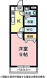 静岡県浜松市中区上島7丁目の賃貸マンションの間取り