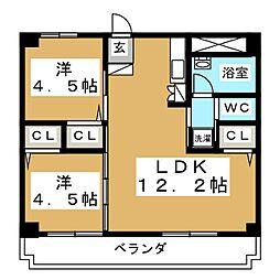 CASA442[3階]の間取り