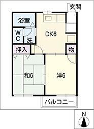そよご荘[1階]の間取り