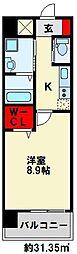 ZEGUNA(ゼグナ) 4階1Kの間取り